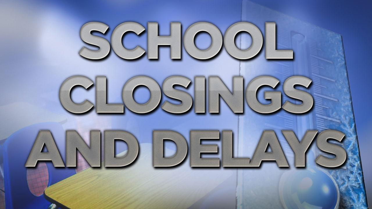 Houston-area school closings and delays