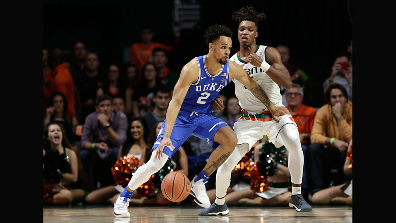 Gary Trent Jr. had a career night for Duke with 30 points,