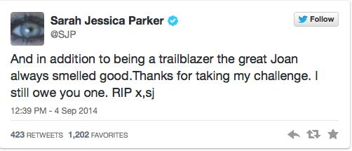 """<div class=""""meta image-caption""""><div class=""""origin-logo origin-image """"><span></span></div><span class=""""caption-text"""">Sarah Jessica Parker (Sarah Jessica Parker / Twitter)</span></div>"""