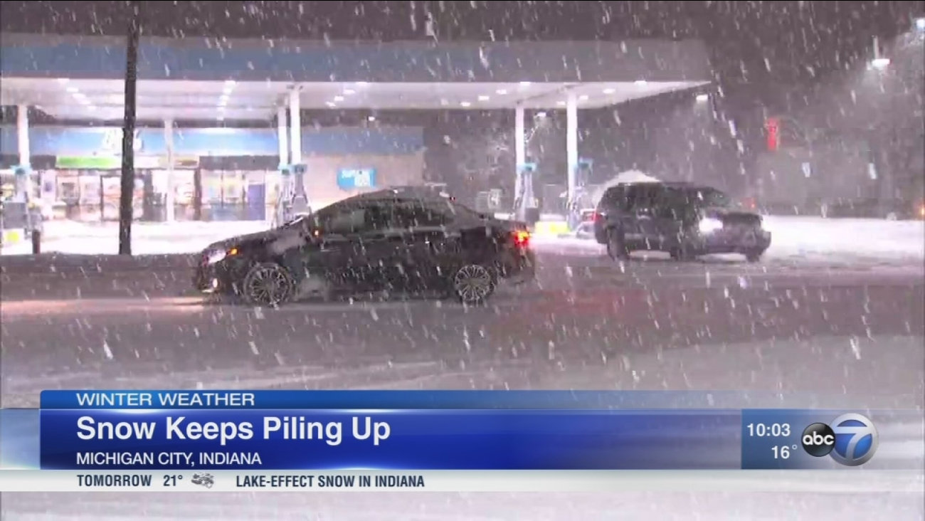 Chicago Weather More Snow Creates Slick Roads Across Area Tuesday