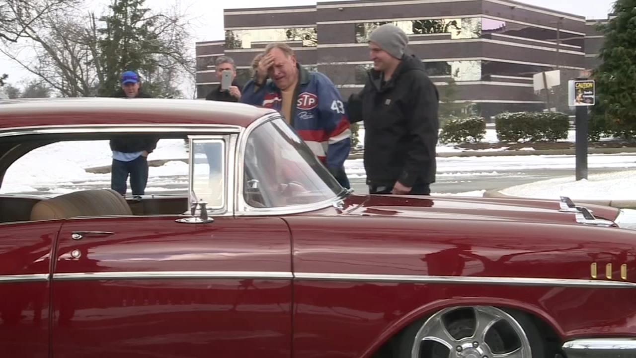 Man surprises grandfather with restored 1957 Chevy Bel Air | 6abc.com