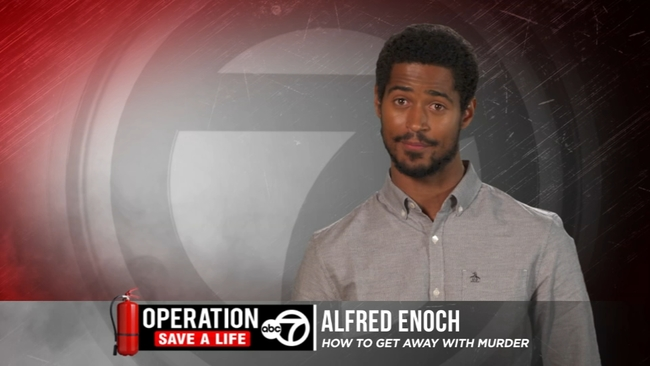 Celebrities With Fire Safety Tips Alfred Enoch