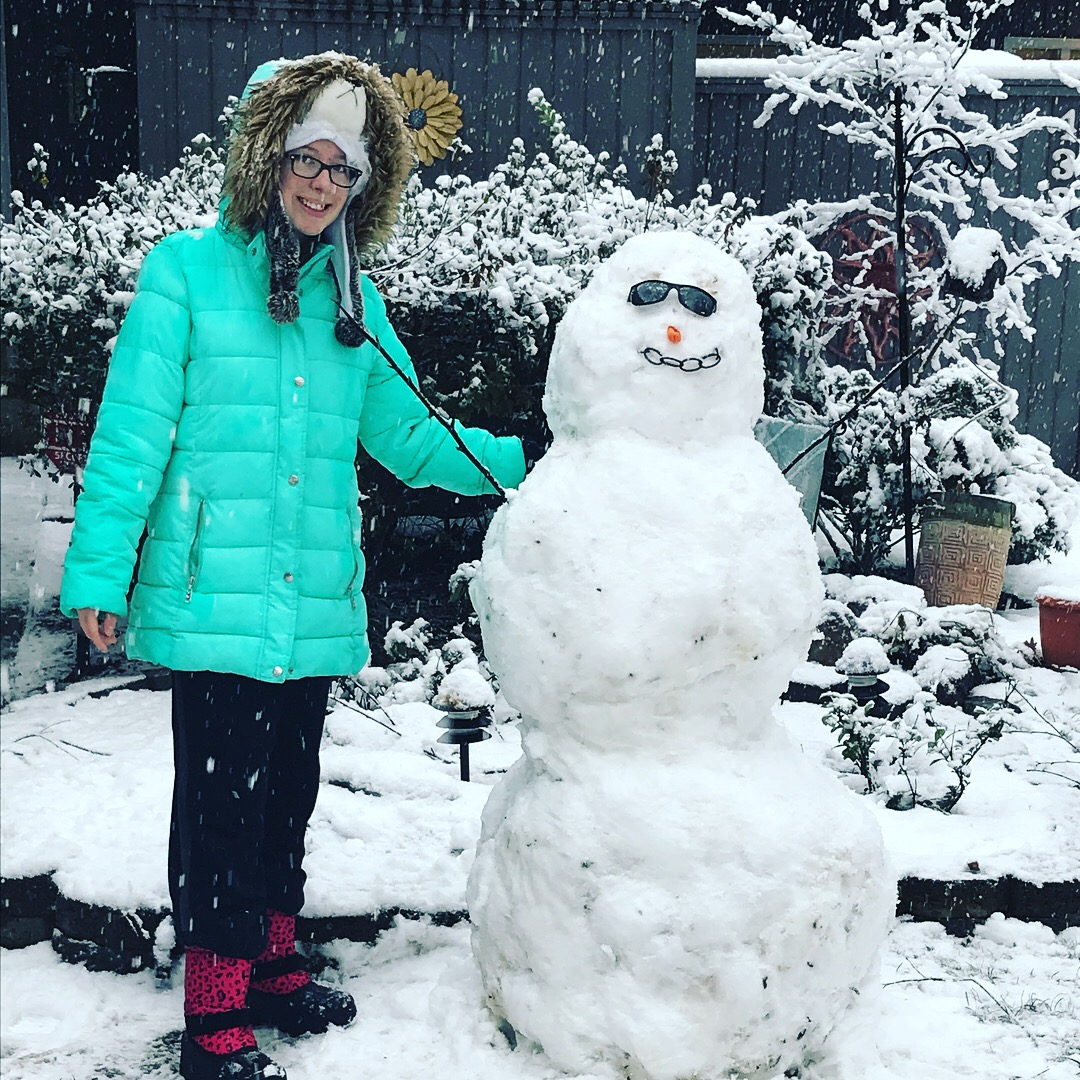 "<div class=""meta image-caption""><div class=""origin-logo origin-image wtvd""><span>WTVD</span></div><span class=""caption-text"">Snow bunny and a 4-foot snowman. Great fun today! (Mark LeBlanc - ABC11 Eyewitness)</span></div>"