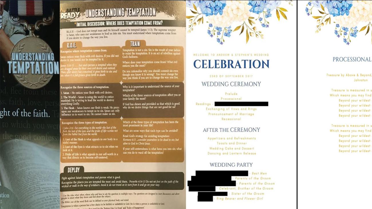 Vistaprint Wedding Programs.Lawsuit Alleges Gay Couple Got Hateful Flyers Instead Of Wedding