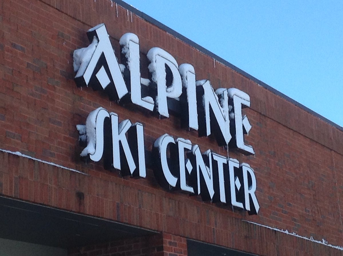 <div class='meta'><div class='origin-logo' data-origin='WTVD'></div><span class='caption-text' data-credit='Ed Crump'>The sign at the Alpine Ski Center on Glenwood looks like it could actually be in the Alps!</span></div>