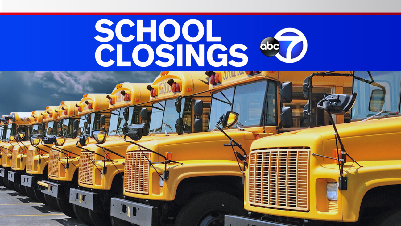 New York City, New Jersey, Westchester, Long Island school closings