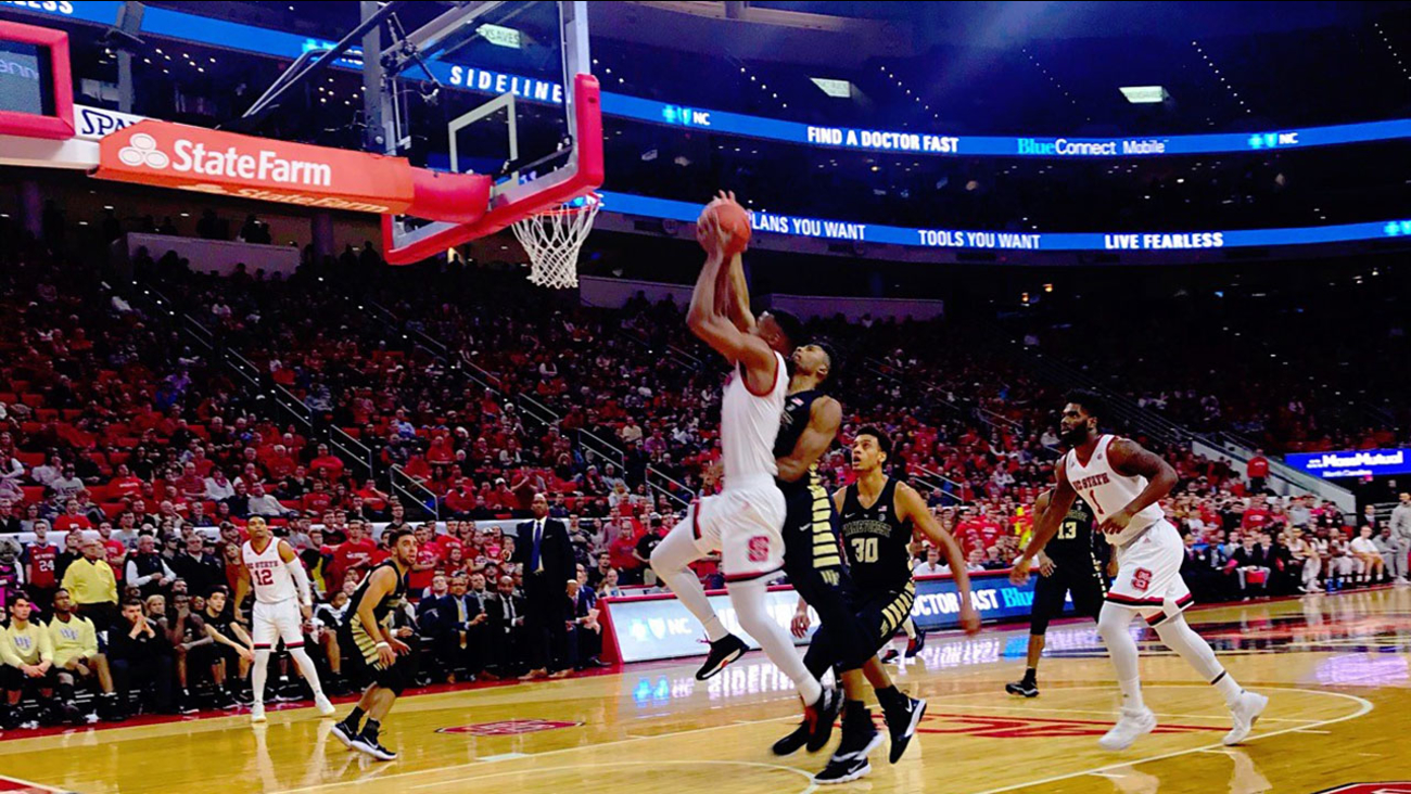 NC State pulled away late to beat Wake Forest and even its conference record at 3-3 on Thursday night.