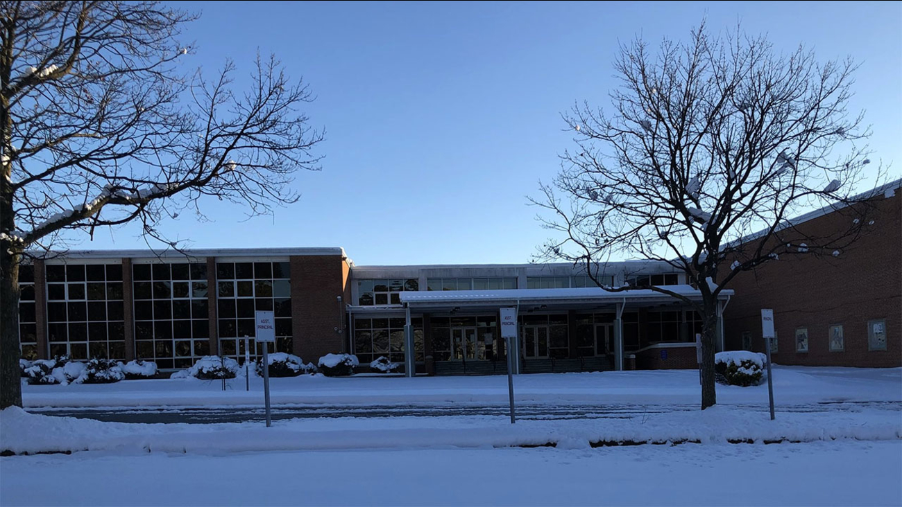 No school in Durham on Friday. This is the scene Thursday at Brogden Middle School.