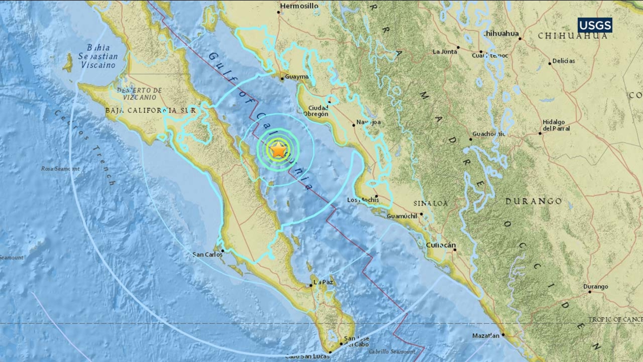 Gulf Of California Map.6 3 Magnitude Earthquake Strikes In Gulf Of California Near Sinaloa