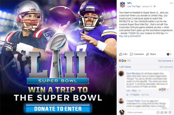 nfl prematurely promotes vikings patriots super bowl