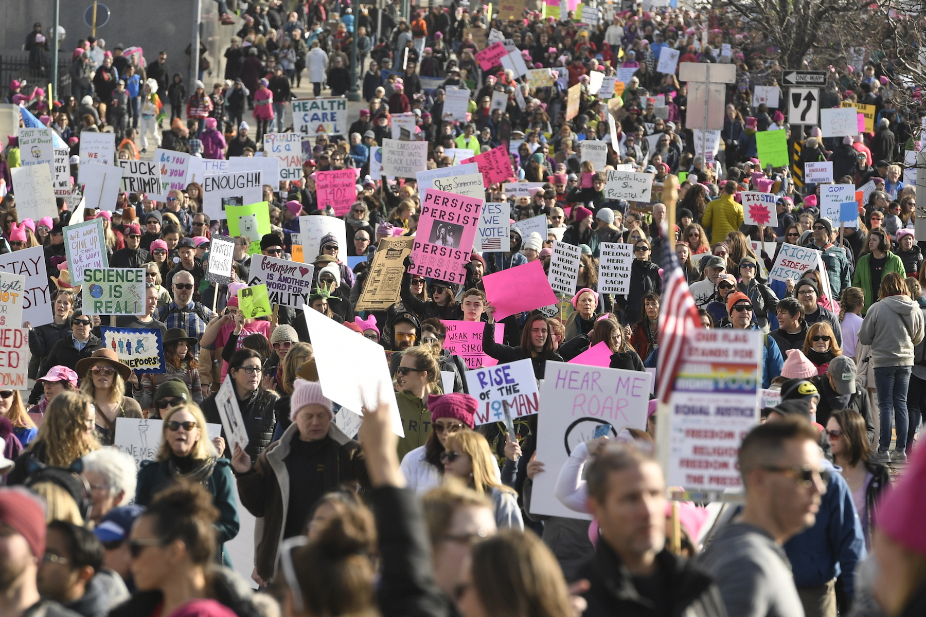 <div class='meta'><div class='origin-logo' data-origin='none'></div><span class='caption-text' data-credit='Helen H. Richardson/The Denver Post via Getty Images'>Thousands of people attended the Denver Women's March on January 20, 2018 at Civic Center Park in Denver, Colorado.</span></div>