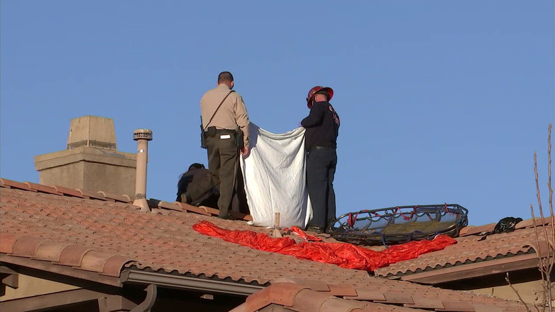 Skydiver dies after falling onto roof of Perris home
