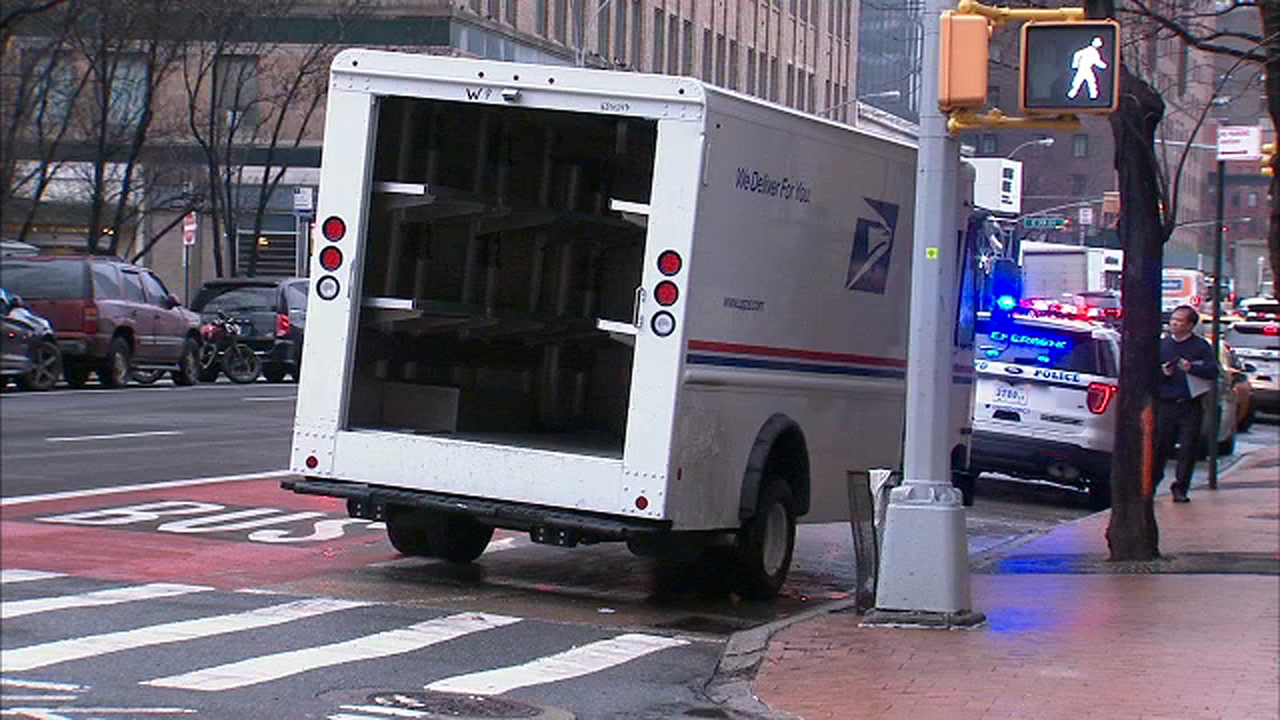 3 miraculously survive after being run over by usps driver in manhattan abc7nycom