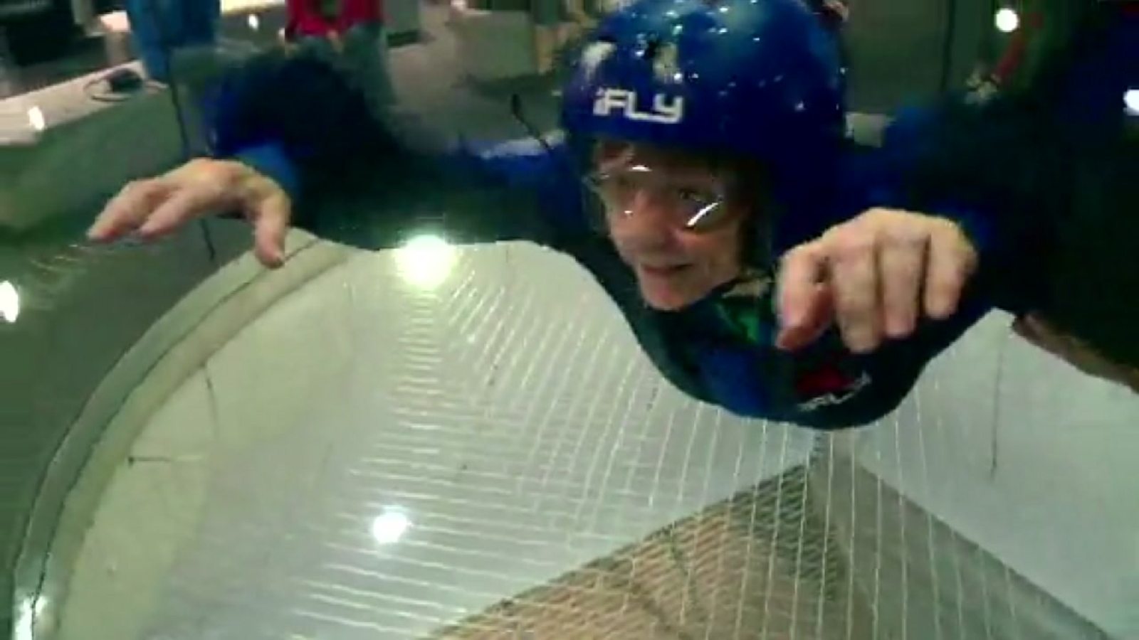 92 Year Old Celebrates Birthday With Indoor Skydive
