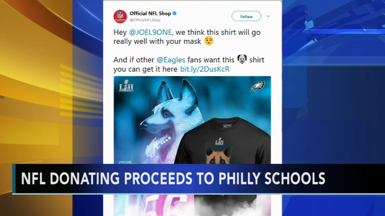 88d670a3a28 Underdog shirts raise $100K, NFL donating proceeds to Philly schools ...