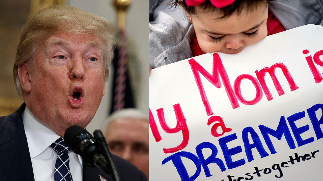 President Donald Trump said he's open to an immigration plan that provides a pathway to citizenship for people who were brought to the U.S. as children and are now here illegally.