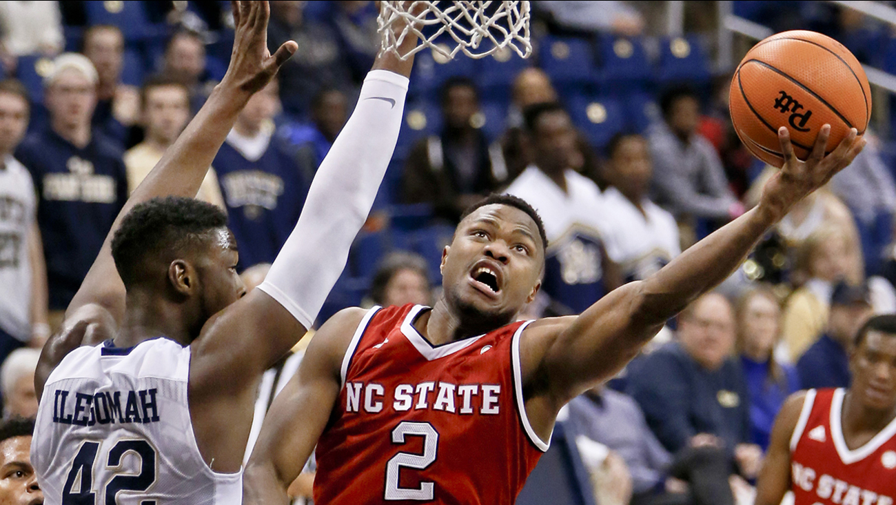 North Carolina State's Torin Dorn shoots as Pittsburgh's Peace Ilegomah (42) defends on Wednesday in Pittsburgh.