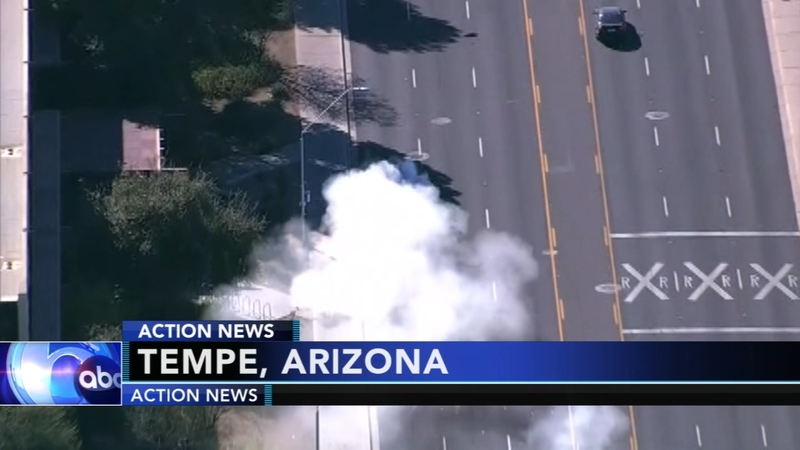 VIDEO: High-speed chase ends in dramatic head-on crash near Phoenix