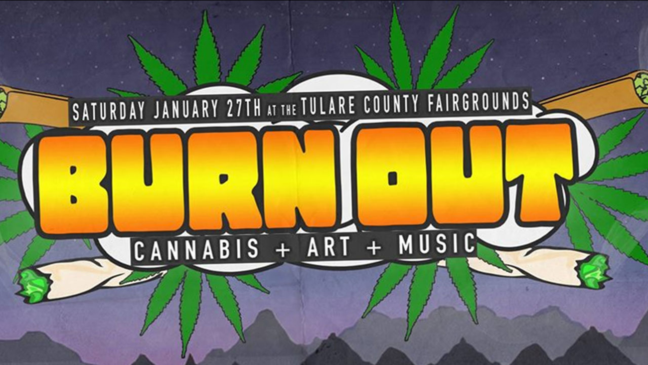 Screenshot of the 'Burnout' festival Facebook event page