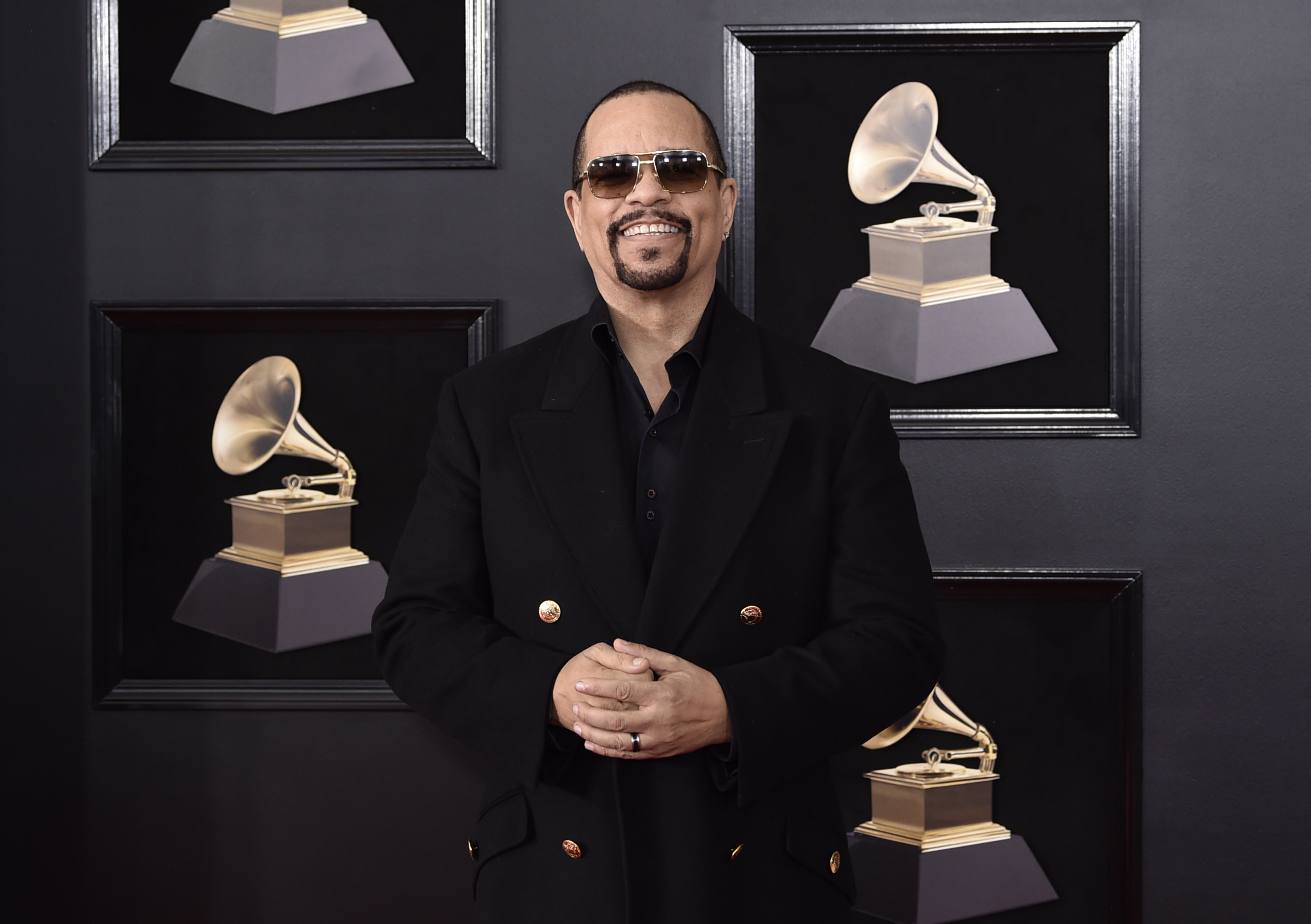 <div class='meta'><div class='origin-logo' data-origin='AP'></div><span class='caption-text' data-credit='Evan Agostini/Invision/AP'>Ice-T arrives at the 60th annual Grammy Awards at Madison Square Garden on Sunday, Jan. 28, 2018, in New York.</span></div>