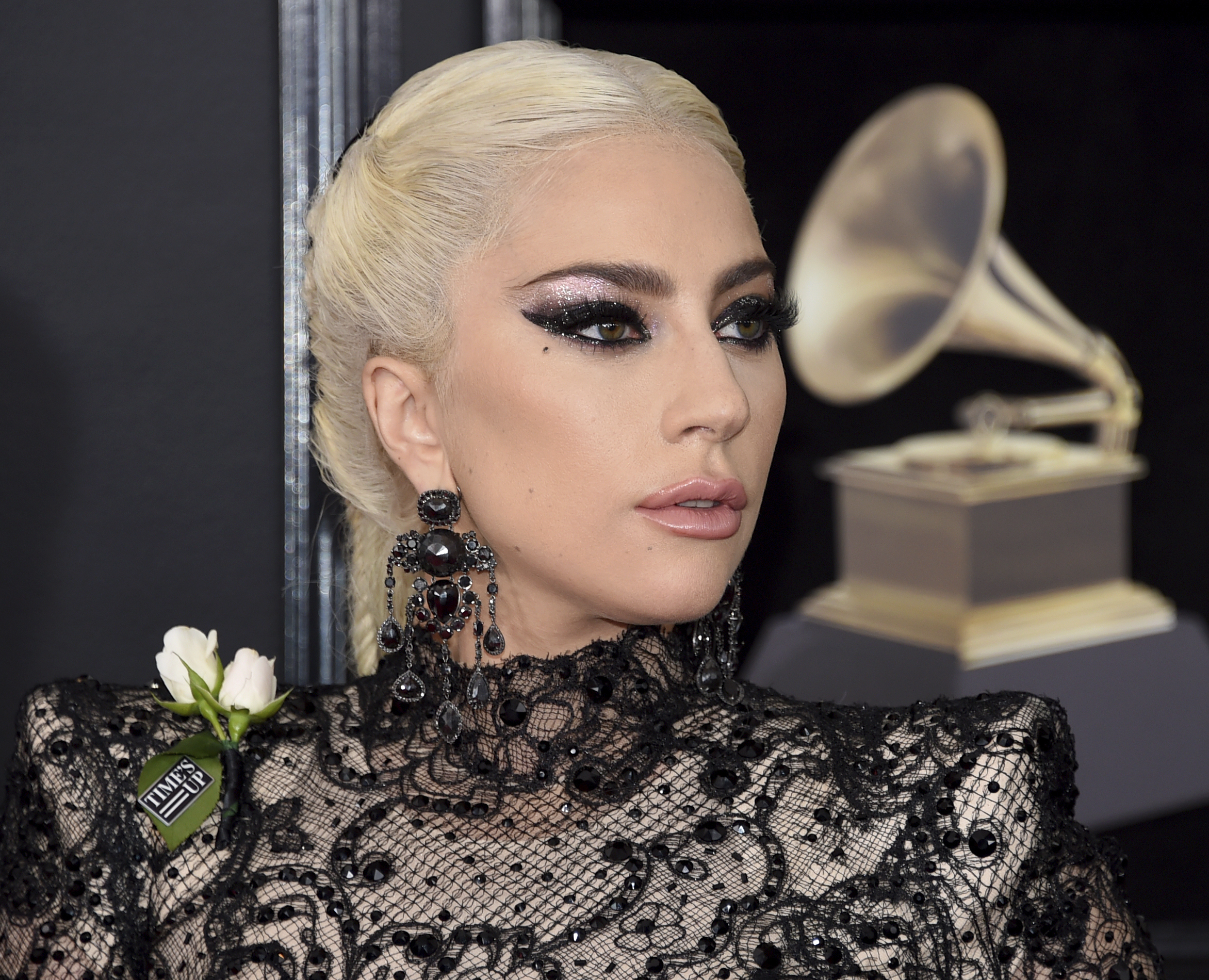<div class='meta'><div class='origin-logo' data-origin='AP'></div><span class='caption-text' data-credit='Evan Agostini/Invision/AP'>Lady Gaga arrives at the 60th annual Grammy Awards at Madison Square Garden on Sunday, Jan. 28, 2018, in New York.</span></div>