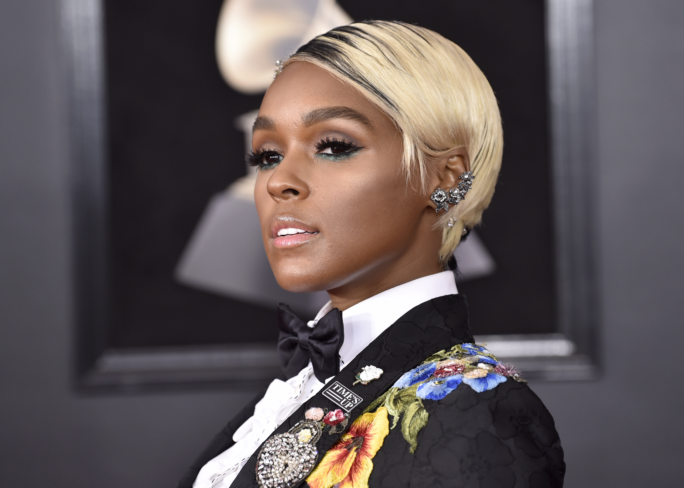 <div class='meta'><div class='origin-logo' data-origin='AP'></div><span class='caption-text' data-credit='Evan Agostini/Invision/AP'>Janelle Monae arrives at the 60th annual Grammy Awards at Madison Square Garden on Sunday, Jan. 28, 2018, in New York.</span></div>