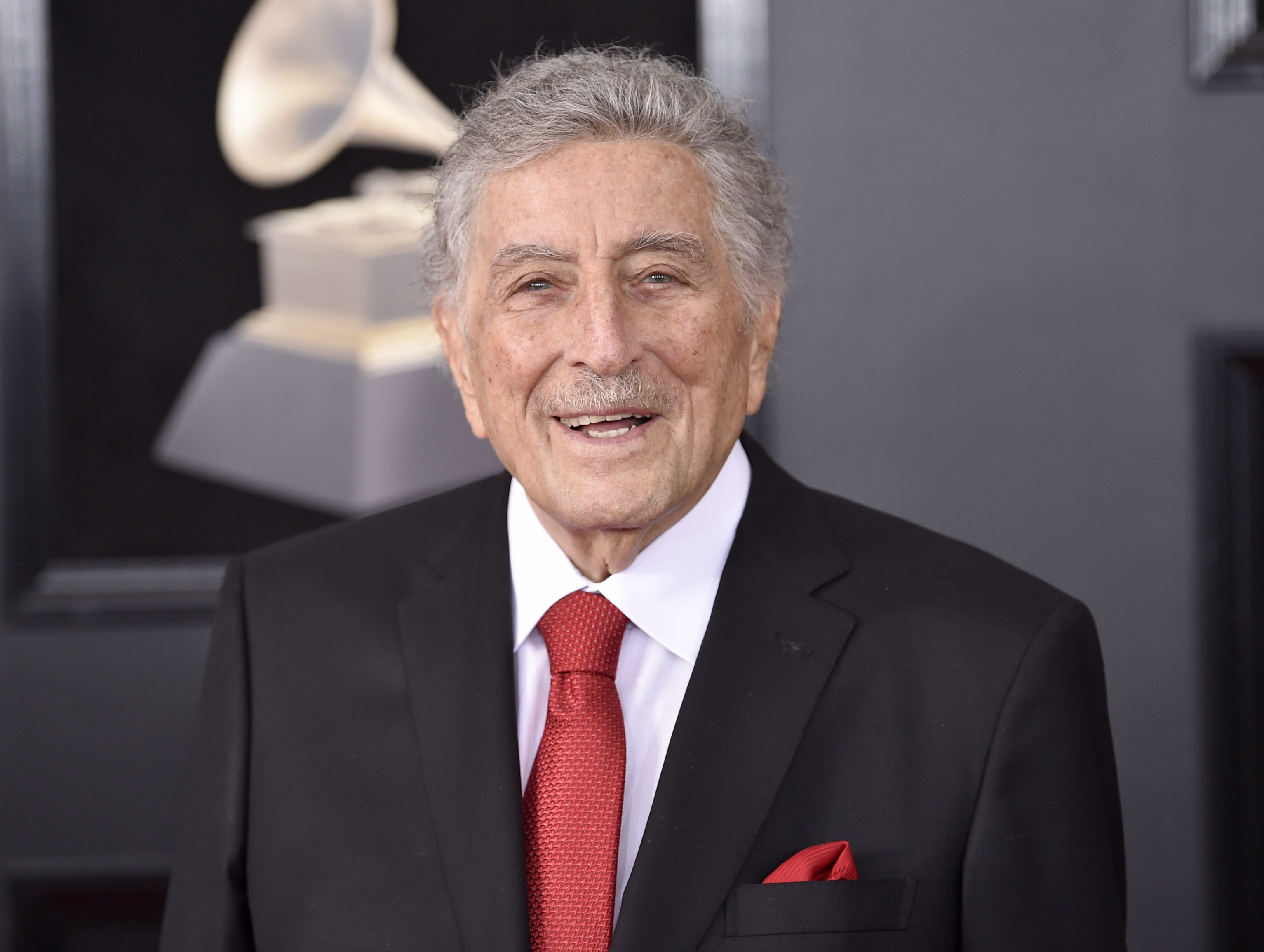 <div class='meta'><div class='origin-logo' data-origin='AP'></div><span class='caption-text' data-credit='Evan Agostini/Invision/AP'>Tony Bennett arrives at the 60th annual Grammy Awards at Madison Square Garden on Sunday, Jan. 28, 2018, in New York.</span></div>