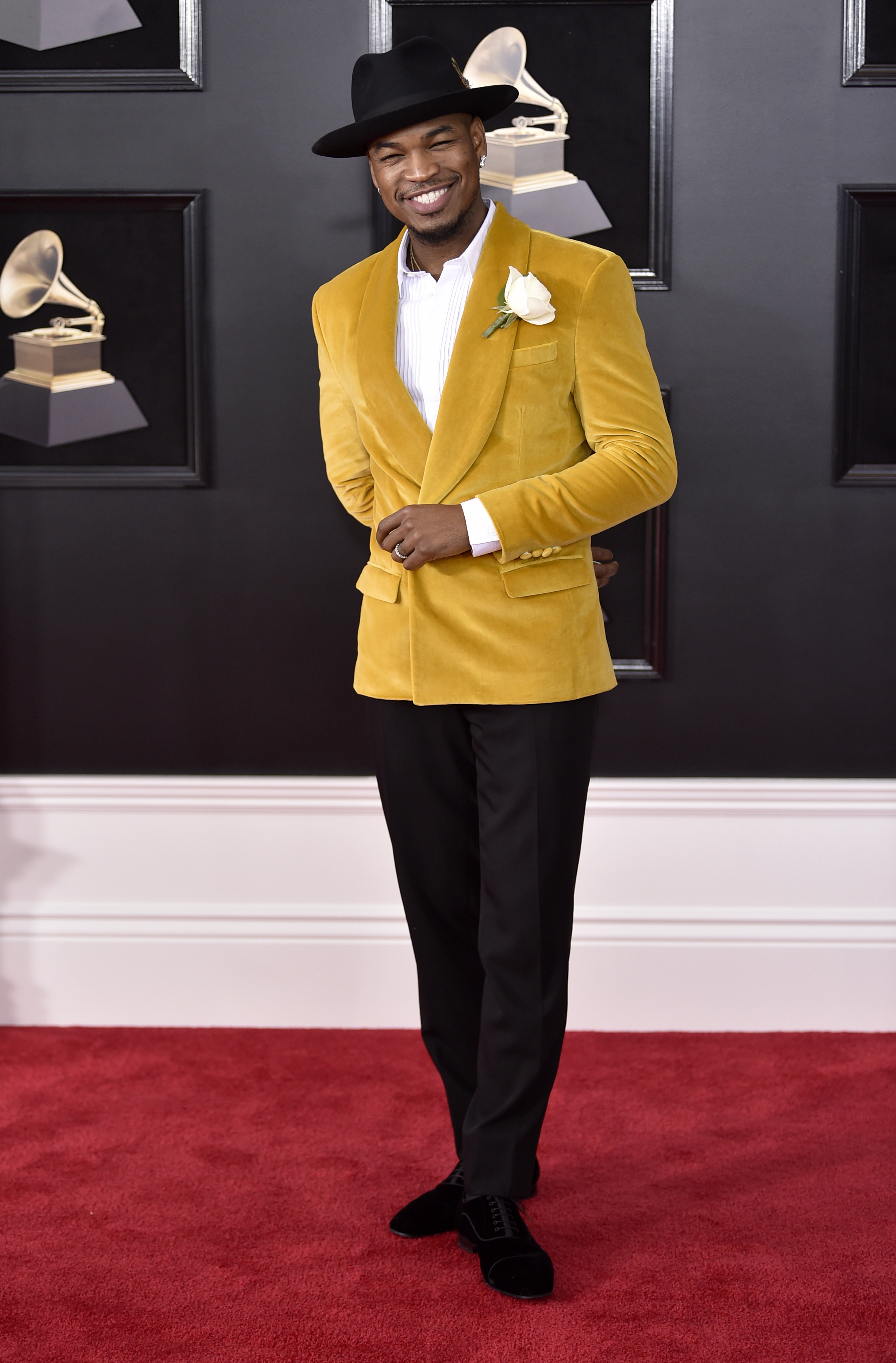 <div class='meta'><div class='origin-logo' data-origin='AP'></div><span class='caption-text' data-credit='Evan Agostini/Invision/AP'>Ne-Yo arrives at the 60th annual Grammy Awards at Madison Square Garden on Sunday, Jan. 28, 2018, in New York.</span></div>