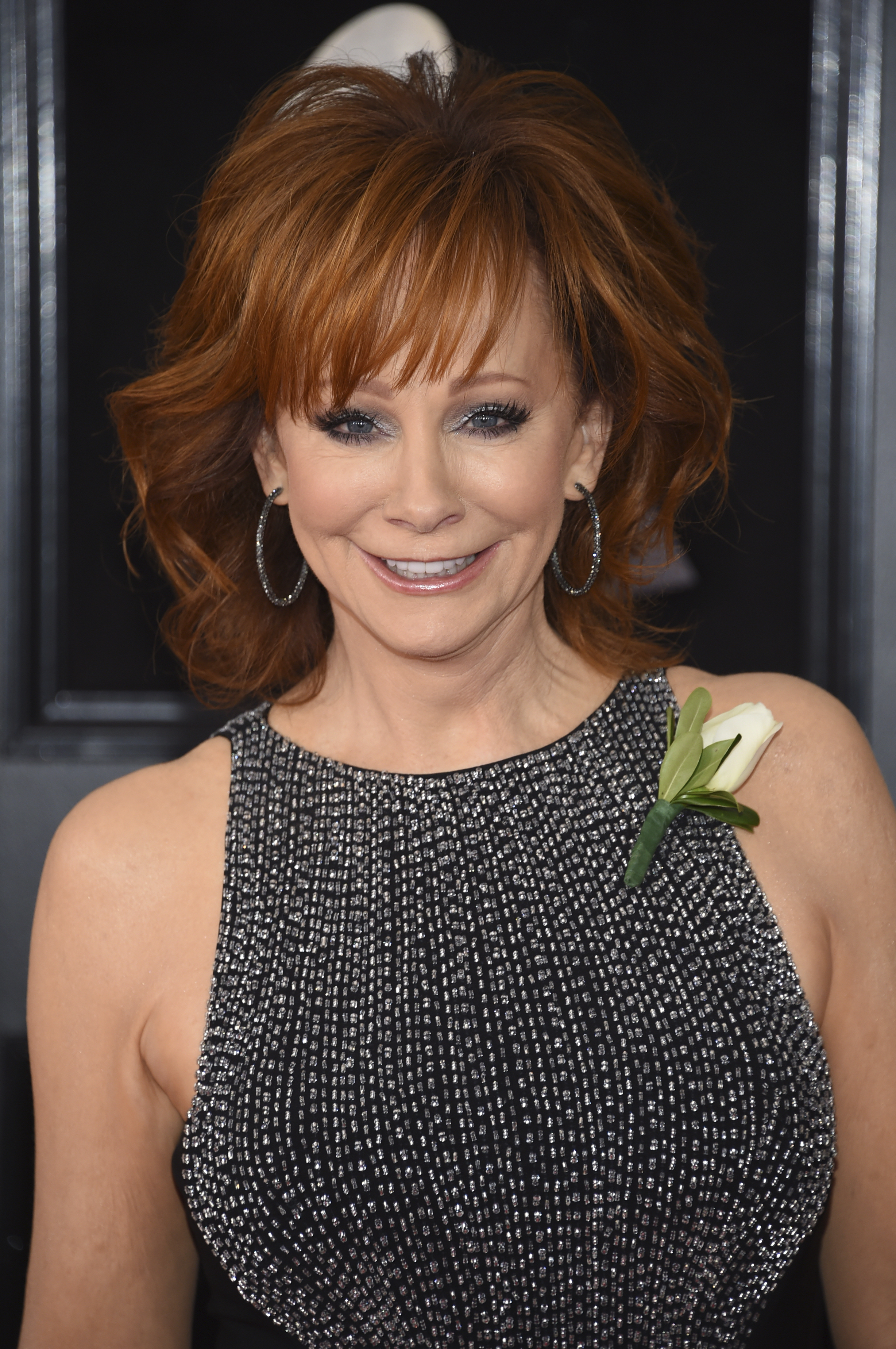 <div class='meta'><div class='origin-logo' data-origin='AP'></div><span class='caption-text' data-credit='Evan Agostini/Invision/AP'>Reba McEntire arrives at the 60th annual Grammy Awards at Madison Square Garden on Sunday, Jan. 28, 2018, in New York.</span></div>