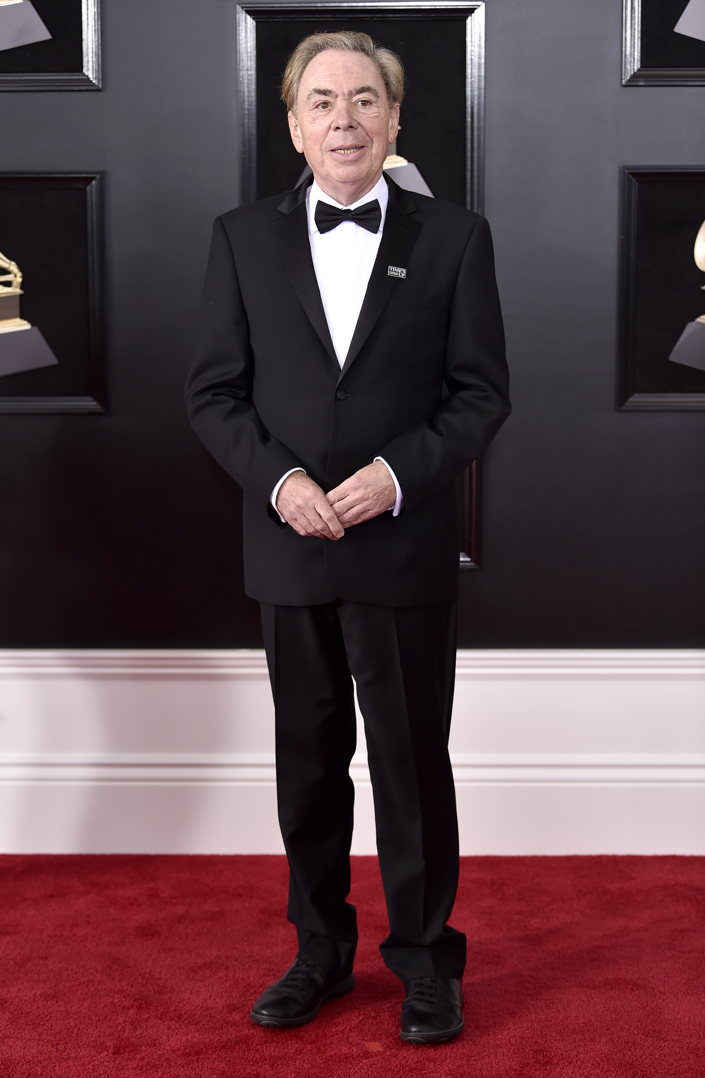 <div class='meta'><div class='origin-logo' data-origin='AP'></div><span class='caption-text' data-credit='Evan Agostini/Invision/AP'>Andrew Lloyd Webber arrives at the 60th annual Grammy Awards at Madison Square Garden on Sunday, Jan. 28, 2018, in New York.</span></div>
