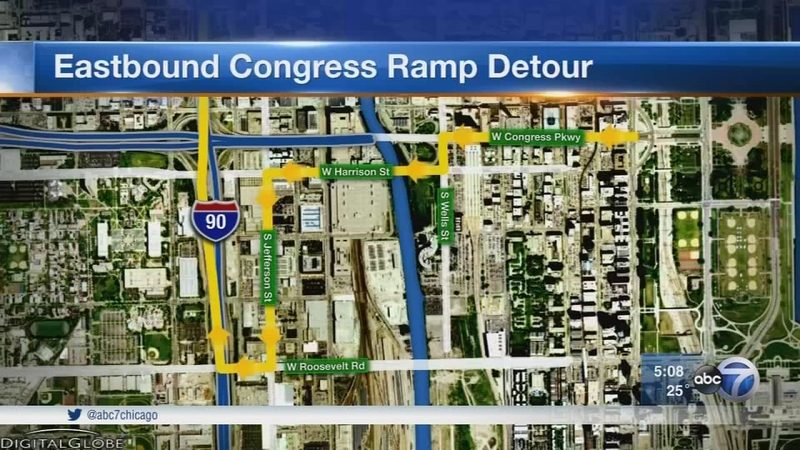 Inbound Kennedy to eastbound Congress ramp to be closed for 2 years