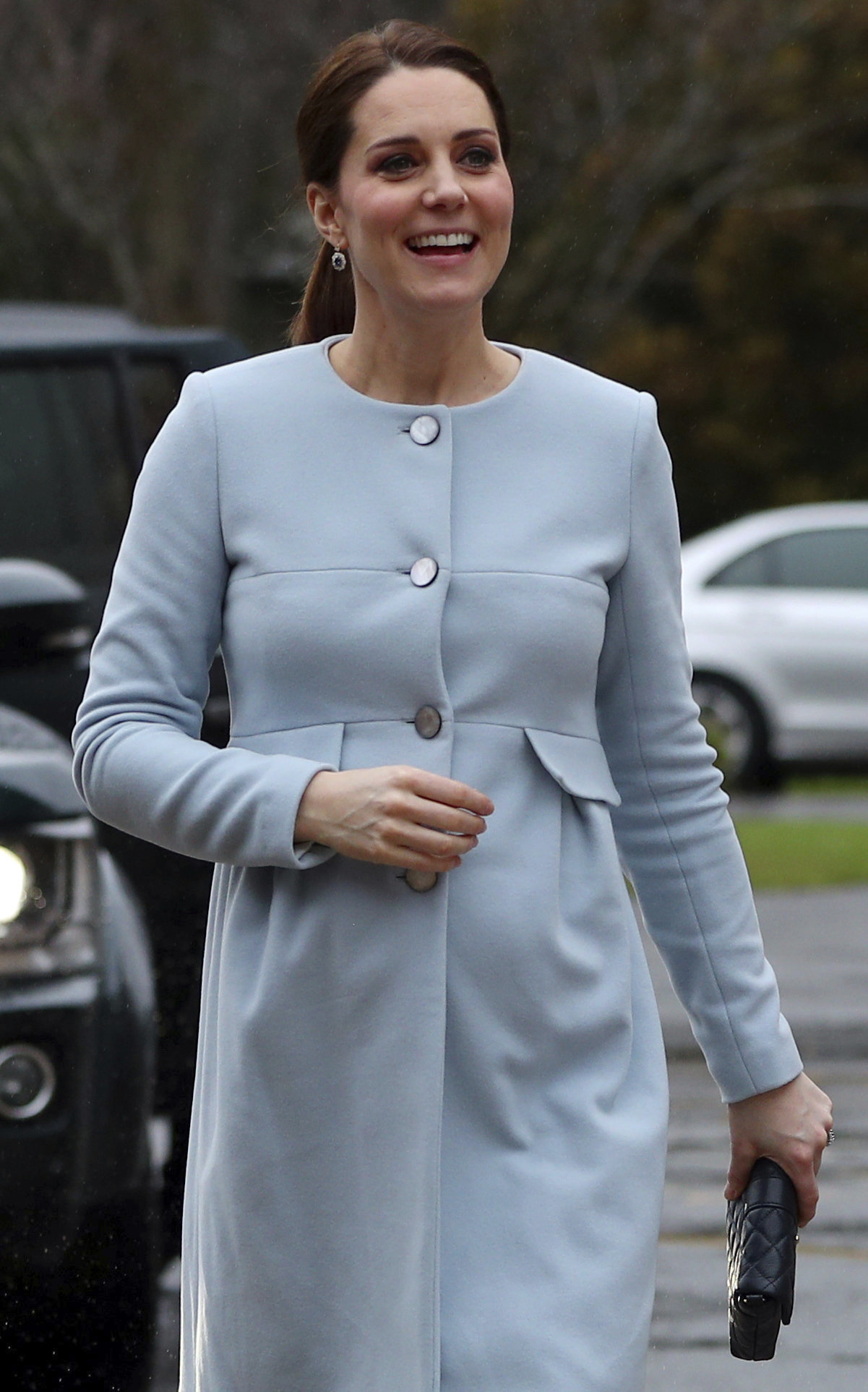 "<div class=""meta image-caption""><div class=""origin-logo origin-image none""><span>none</span></div><span class=""caption-text"">Britain's Kate, Duchess of Cambridge, arrives to meet patients and staff at the Mother and Baby unit at the Bethlem Royal Hospital in south London, Wednesday, Jan. 24, 2018. (Hannah McKay/Pool Photo via AP)</span></div>"