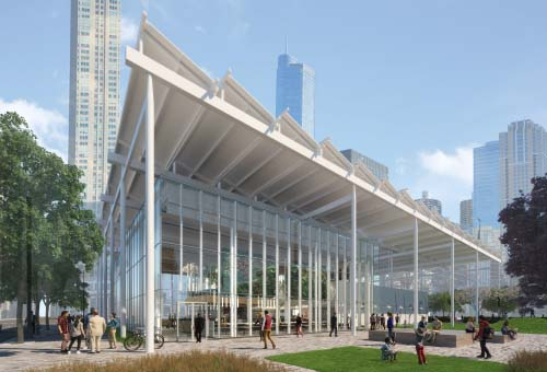 <div class='meta'><div class='origin-logo' data-origin='none'></div><span class='caption-text' data-credit='McDonald's'>Renderings of the new flagship Chicago McDonald's released Tuesday show a more modern, eco-friendly look.</span></div>