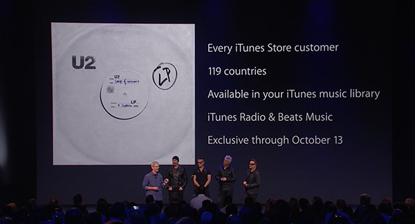 "<div class=""meta image-caption""><div class=""origin-logo origin-image ""><span></span></div><span class=""caption-text"">U2 announces the release of their new album free on iTunes. (Apple)</span></div>"