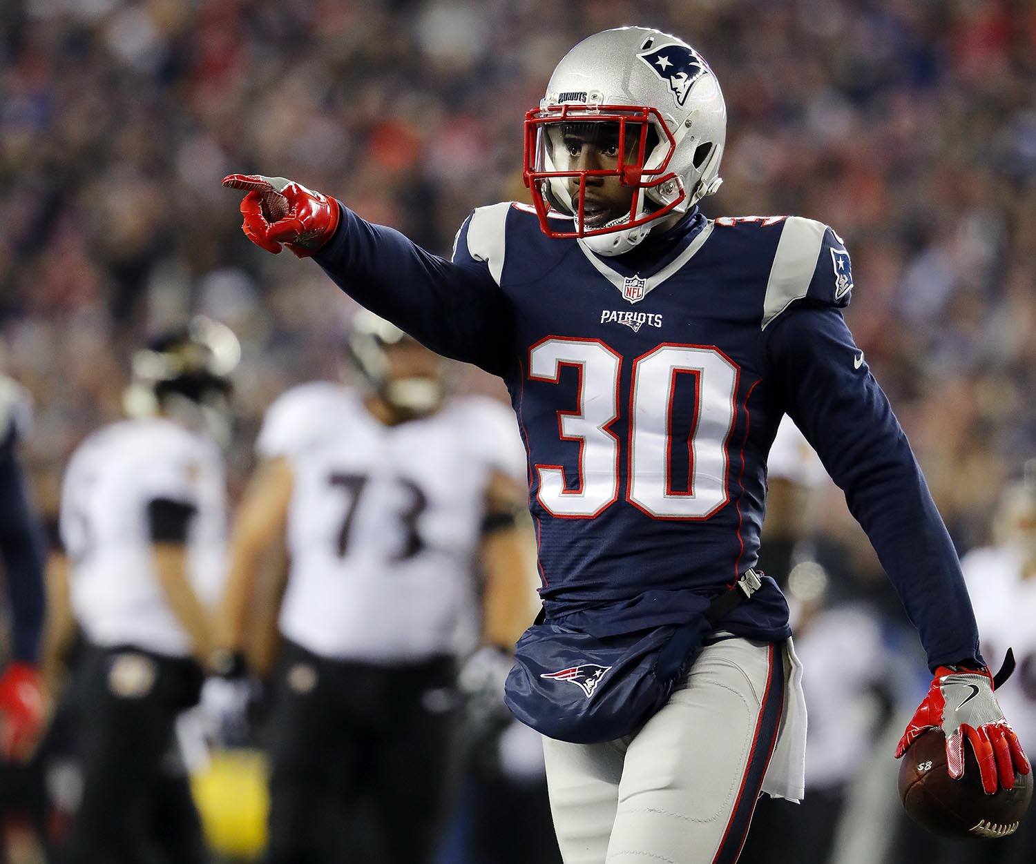 "<div class=""meta image-caption""><div class=""origin-logo origin-image ap""><span>AP</span></div><span class=""caption-text"">New England Patriots' defensive back Duron Harmon attended Rutgers University in New Brunswick, NJ. (Winslow Townson/AP Images for Panini)</span></div>"