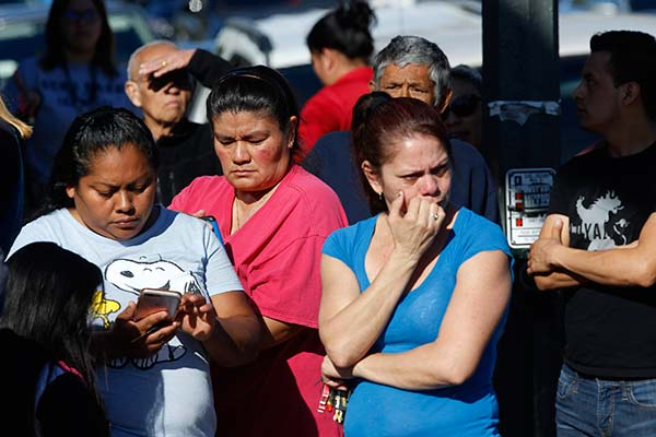 "<div class=""meta image-caption""><div class=""origin-logo origin-image ap""><span>AP</span></div><span class=""caption-text"">Parents wait for news of students at the Belmont High School in Los Angeles Thursday, Feb. 1, 2018. (Damian Dovarganes)</span></div>"
