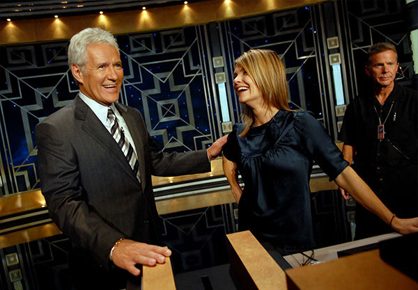 "<div class=""meta image-caption""><div class=""origin-logo origin-image ""><span></span></div><span class=""caption-text"">Trebek talking with Kahtryn Erbe prior to a taping of Celebrity Jeopardy! in October 2006. (Paul Hawthorne / AP)</span></div>"