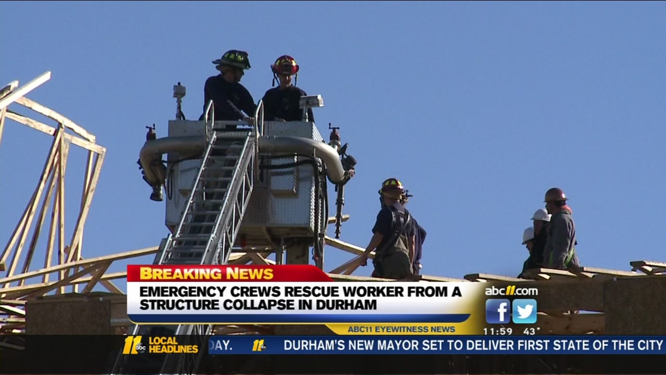 Durham Construction Worker Injured After Roof Collapse At Work Site