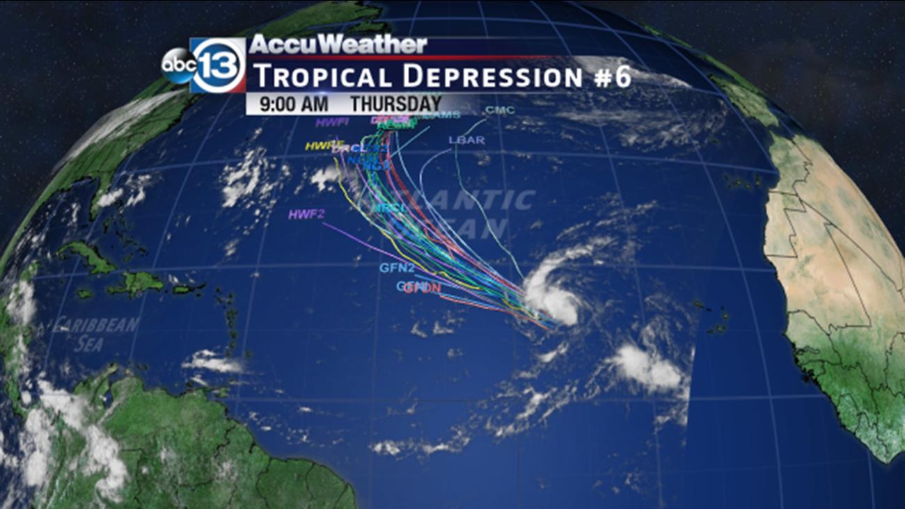 tropical depression six