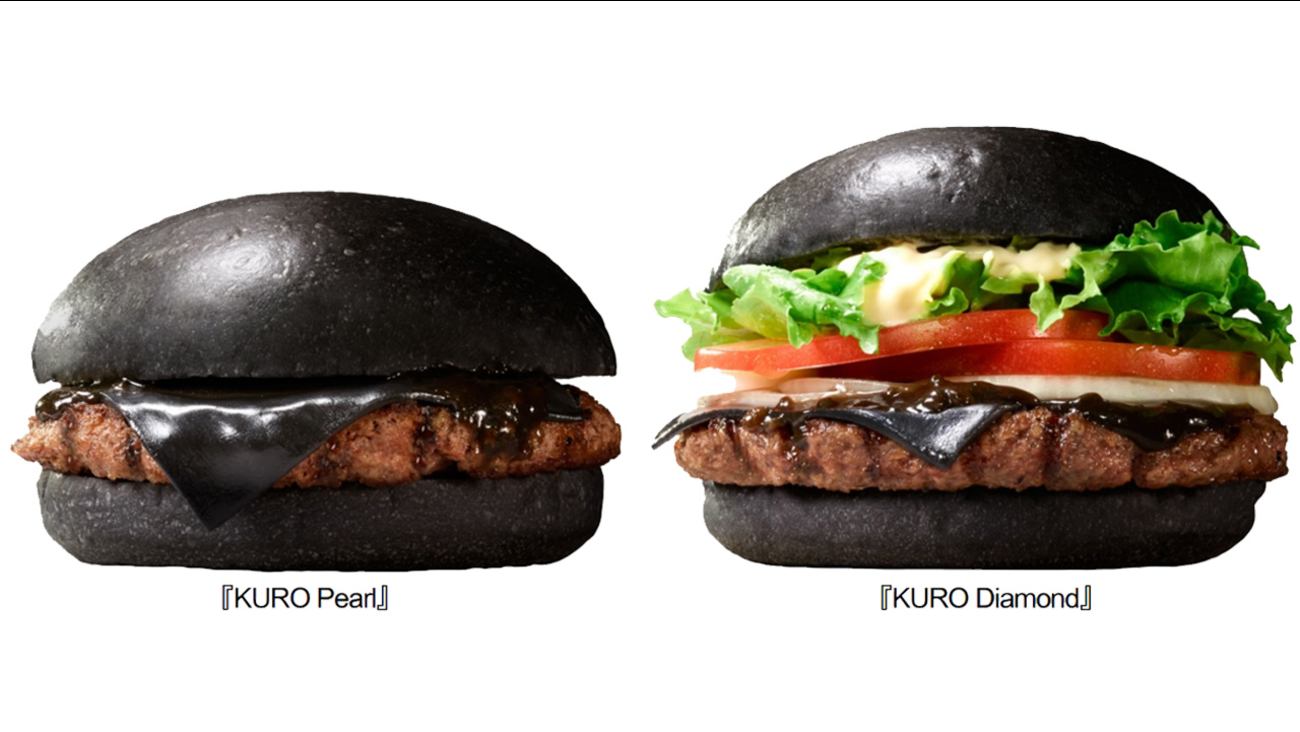 Burger King Japan's black burgers