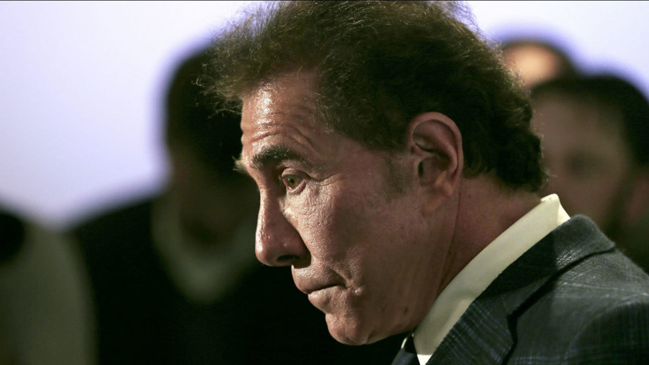 This March 15, 2016 file photo shows casino mogul Steve Wynn during a news conference in Medford, Mass.