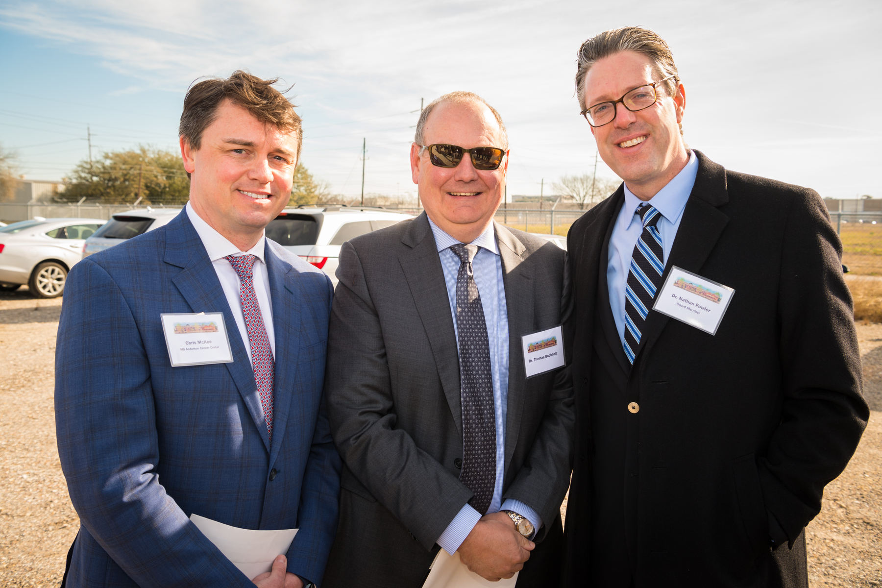 "<div class=""meta image-caption""><div class=""origin-logo origin-image ktrk""><span>KTRK</span></div><span class=""caption-text"">Chris Mckee, Dr. Thomas Buchholz, and Dr. Nathan Fowler, all of MD Anderson Cancer Center</span></div>"