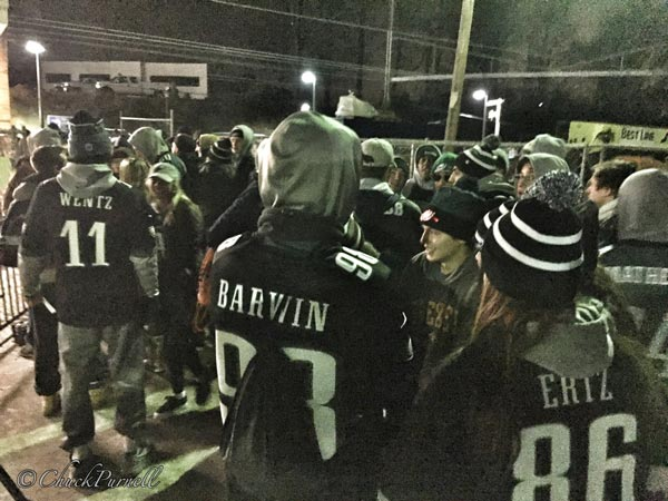 <div class='meta'><div class='origin-logo' data-origin='WPVI'></div><span class='caption-text' data-credit=''>Hundreds of Eagles fans wait in line at the Paoli Station on February 8, 2018.</span></div>
