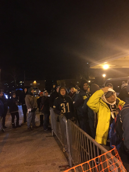 <div class='meta'><div class='origin-logo' data-origin='WPVI'></div><span class='caption-text' data-credit=''>Eagles fans at NorristownTransportation Station on February 8, 2018.</span></div>