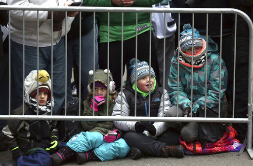 <div class='meta'><div class='origin-logo' data-origin='AP'></div><span class='caption-text' data-credit='AP'>Philadelphia Eagles fans wait behind a barricade for the start of the parade and celebration Thursday Feb. 8, 2018, in Philadelphia. (AP Photo/Jacqueline Larma)</span></div>
