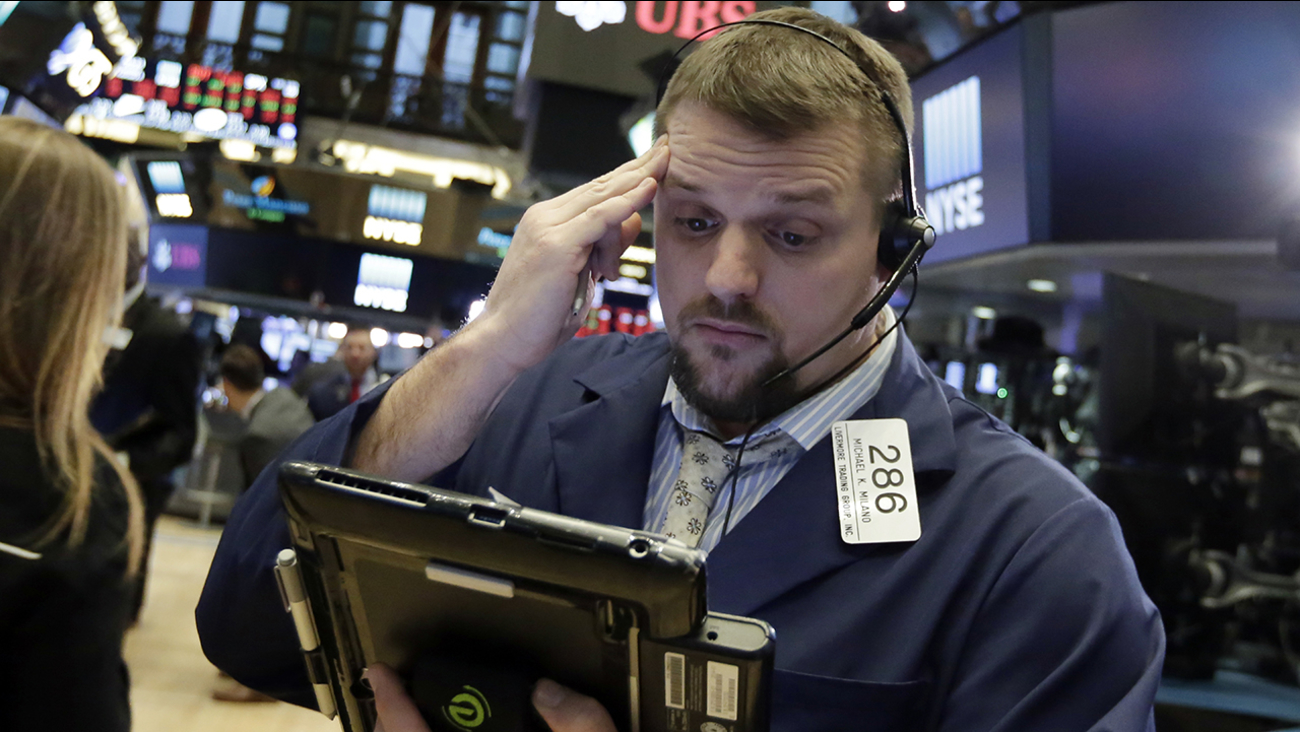 The Dow Jones industrial average plunged more than 1,000 points as a weeklong market swoon continued.