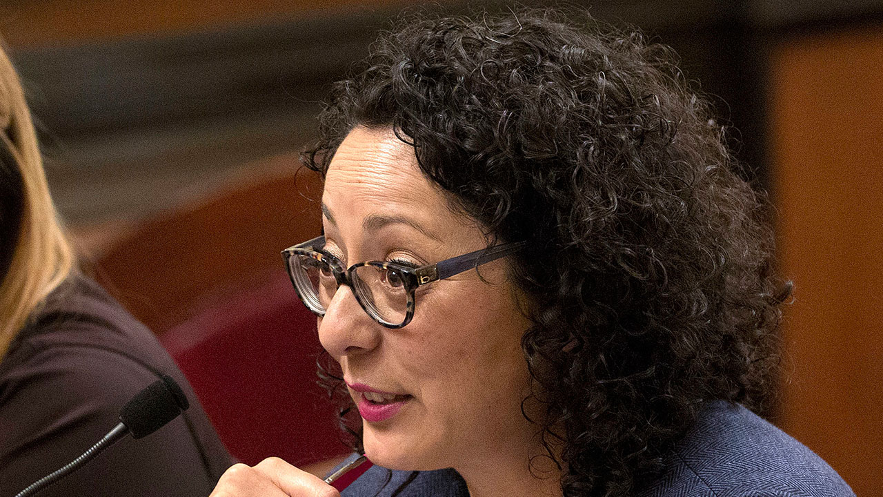 Assemblywoman Cristina Garcia, D-Bell Gardens, speaks at the Capitol in Sacramento on June 22, 2016.