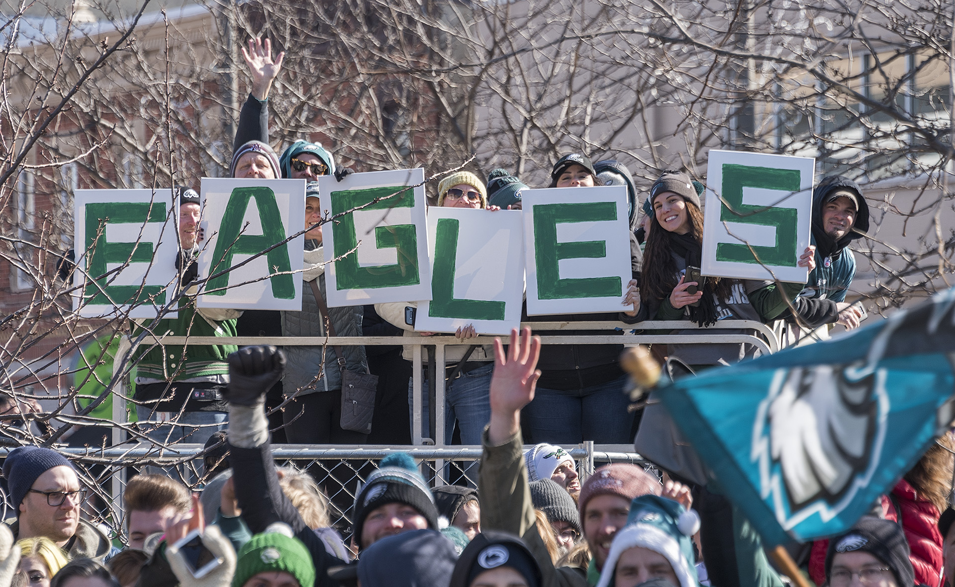 <div class='meta'><div class='origin-logo' data-origin='none'></div><span class='caption-text' data-credit=''>The Philadelphia Eagles celebrate their first Super Bowl championship with a parade and ceremony on February 8, 2018.</span></div>