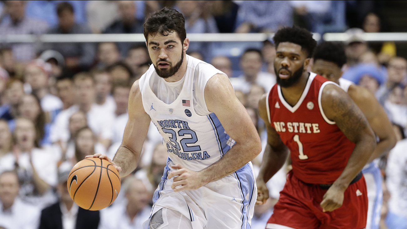Luke Maye brings the ball up against NC State in the first meeting on Jan. 27.