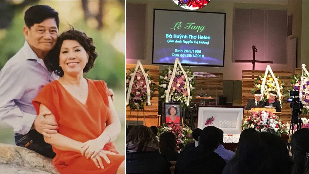 A funeral held Saturday, Feb. 10, 2018, for Helen Huynh, a Garden Grove mom who died of leukemia after her family fought the U.S. government to get her a life-saving transplant.